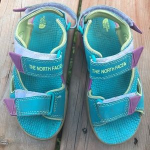 Kids The North Face sandals Sz 12